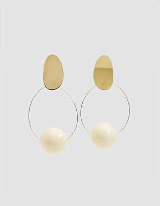 Modern Weaving Orb Hoop Earrings