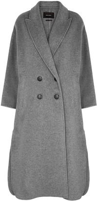 Isabel Marant Felliot grey double-breasted wool-blend coat