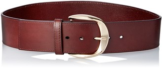 elise m. Women's Audrey Classically Chic Waist Or Hip Belt with Gold Buckle Detail