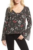 Cupcakes And Cashmere Jantel Bell Sleeve Shirt