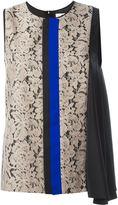 MSGM floral lace tank top