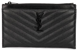 Saint Laurent Monogrammed Textured Clutch