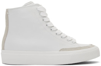 Rag & Bone White RB High Top Sneakers