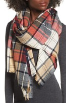 Sole Society Women's Oversize Plaid Wool Scarf