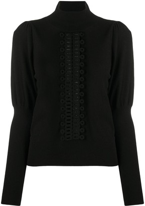 See by Chloe Pearforated Panel Jumper