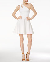 Bar III One-Shoulder Fit & Flare Dress, Only at Macy's