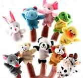 China 10 Pcs/lot Baby Plush Toys Cartoon Happy Family Fun Animal Finger Hand Puppet Kids Learning & Education Toys Gifts beba poklon za njegu by Pbaby