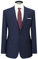 Daniel Hechter Pindot Peak Lapel Tailored Suit Jacket, Navy