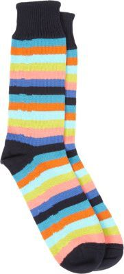 Corgi Striped Mid-Calf Socks