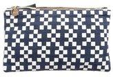 Clare Vivier Checkered Zip Clutch