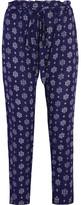 Eberjey Buena Vista Hudson Printed Voile Tapered Pants - Mid denim