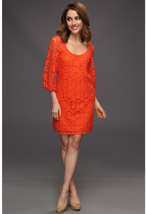 Trina Turk Wakeboard Lace Dress (Bellini) - Apparel