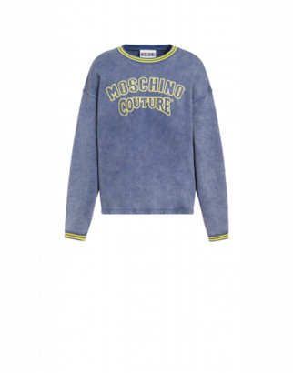 Moschino Couture Cotton Sweatshirt Man Blue Size 44 It - (34 Us)