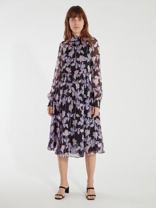 Diane von Furstenberg Athena Smocked Midi Dress