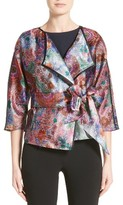 Armani Collezioni Women's Floral Print Organza Jacket