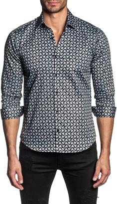 Jared Lang Regular Fit Geometric Button-Up Shirt