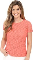 Calvin Klein Women's S/Stretch Lace Top