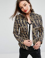 Love Moschino Ornate Printed Padded Jacket