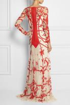 Temperley London Francine chiffon-appliquéd tulle gown
