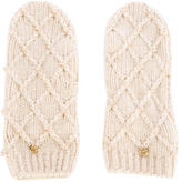 Tory Burch Pearl Cable Mittens w/ Tags