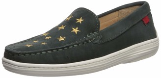 Marc Joseph New York Unisex Leather Driver with Gold Star Detail Loafer