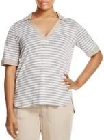 Marina Rinaldi Zambia Collared Stripe Shirt