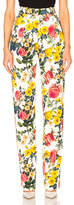Fausto Puglisi Pant in Floral,White.