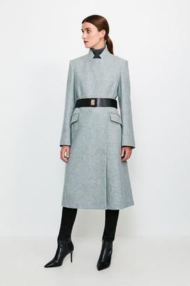 Karen Millen Hardware Belted Wool Coat