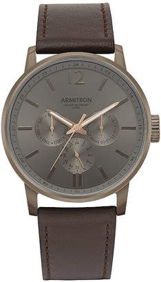 Armitron All Sport Mens Brown Leather Bracelet Watch-20/5217dgdgbn