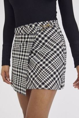Urban Outfitters Tori Plaid Wrap Mini Skirt