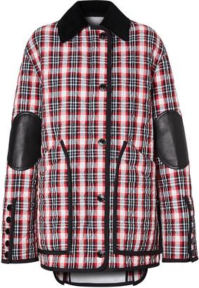 Burberry Diamond Quilted Tartan Barn Jacket