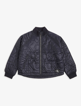 Calvin Klein Jeans Monogram quilted bomber jacket 4-16 years
