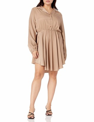 Forever 21 Women's Plus Size Mini Shirt Dress