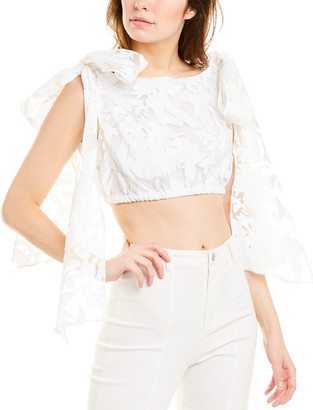 Milly Bow Shoulder Crop Top