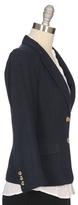 RON HERMAN Schoolboy Blazer In Solid Navy