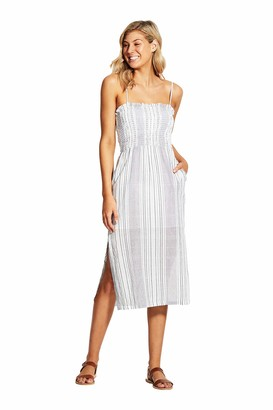 Seafolly Women's Shirred Top Midi Dress with Pockets