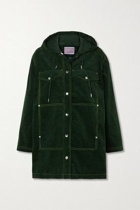 ALEXACHUNG Cotton-corduroy Hooded Jacket - Dark green