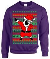 Allntrends Adult Crewneck Dabbing Santa Ugly Christmas Sweater (2XL, )