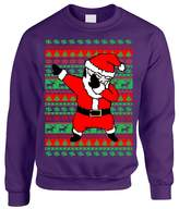 Allntrends Adult Crewneck Dabbing Santa Ugly Christmas Sweater (S, )