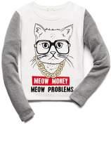Forever 21 girls Meow Money Sweatshirt (Kids)