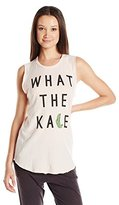 Junk Food Clothing Women's What the Kale Raglan Graphic Muscle Tank