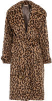 Michael Kors Leopard-print Llama And Wool-blend Coat - Leopard print