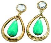 Fiorelli Costume Collection Ladies' E3577 Worn Gold Plated Earrings with Coloured Stones