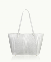GiGi New York Zip Taylor Tote Embossed Python