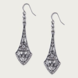 The White Company Silver Ox Deco Earrings , Silver, One Size