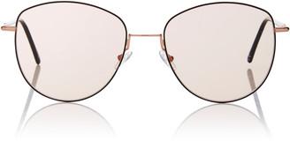 Mila Louise Andy Wolf Eyewear Round-Frame Metal Sunglasses