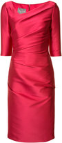 Monique Lhuillier asymmetric neck dress - women - Silk/Polyester/Spandex/Elastane/Polyimide - 6