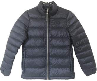 Burberry Navy Polyester Leather jackets