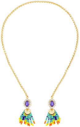 Elizabeth Cole 24-karat Gold-plated, Bead And Crystal Necklace