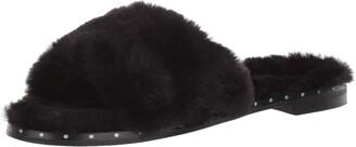 Kenneth Cole New York Women's Peggy Fuzzy Slipper Sandal Slide